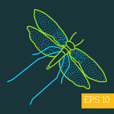 Moth insect outline  Royalty Free Stock Photo