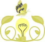 Moth & Light Bulb Stock Photos