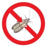 Moth pest is prohibited. Illustration Stock Image
