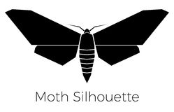 Moth Silhouette Symbol Logo Royalty Free Stock Images