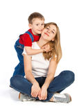 Mothe and son Stock Images