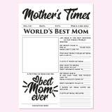 Mother's cronometra - o presente do dia de mãe, memórias, presente rápido, fácil, maravilhoso, tocante ilustração do vetor