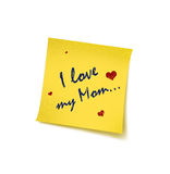 Mother's Day. Mother's Day with reminding concept – Post it royalty free illustration