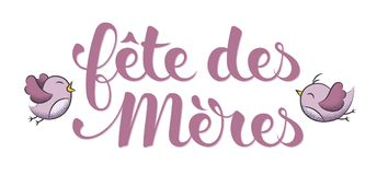 Mother's Day in French : Fête des Mères. Mother's Day in French : Fête des Mères. Vector illustration Royalty Free Stock Images