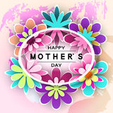 Mother's Day Greeting Card Royalty Free Stock Images