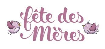 Mother's-Tag auf französisch: Fête DES Mères Lizenzfreie Stockbilder