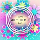 Mother's-Tagesgruß-Karte vektor abbildung