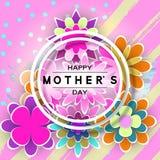 Mother's-Tagesgruß-Karte stock abbildung