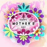 Mother's-Tagesgruß-Karte lizenzfreie abbildung