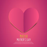 Mother´s Day Paper Heart Stock Images