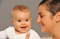 Mother with adorable baby Stock Image