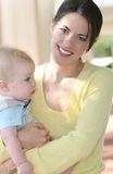 Mother with adorable baby boy - happy family Royalty Free Stock Photo