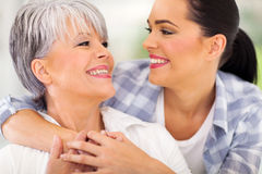 Mother adult daughter Stock Image