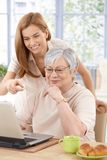 Mother and adult daughter having fun smiling Royalty Free Stock Photo