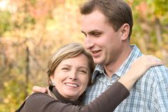 Mother and adult son royalty free stock photography