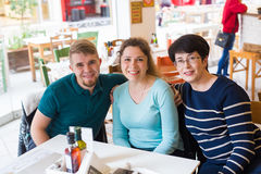 Mother with adult son and daughter Royalty Free Stock Photography