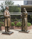 Mother alfred moes william mayo statues Royalty Free Stock Photo