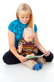 Mother And Child Reading Stock Photos