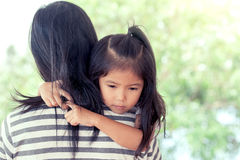 Free Mother And Child Resting On Her Mother`s Shoulder Stock Photo - 91699800