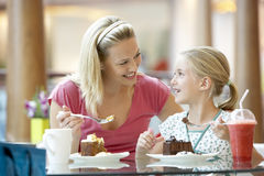 Free Mother And Daughter Having Lunch Together At Cafe Stock Photo - 8688200
