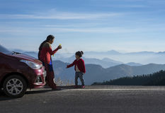 Free Mother And Daughter On A Road Trip. Royalty Free Stock Photos - 85838758
