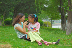 Mother And Daughter Playing Royalty Free Stock Photography
