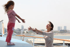 Free Mother And Daughter Stretching Hands To Each Other Stock Image - 16179821