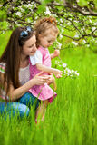 Mother And Little Daughter Stock Photos