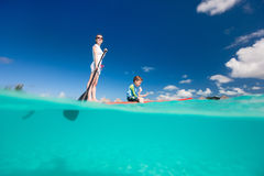 Mother And Son Paddling Royalty Free Stock Photo