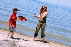 Free Mother And Son Playing At The Royalty Free Stock Photos - 2887898