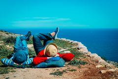Free Mother And Son Relax Travel In Scenic Nature Royalty Free Stock Photo - 129918815
