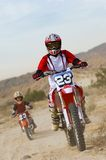Mother And Son Riding Motorbike Stock Images