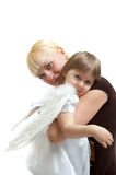 Mother and angel daughter Royalty Free Stock Photos
