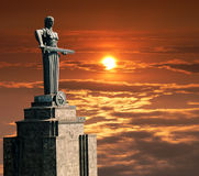 Mother Armenia Statue. Or Mayr hayastan. Monument located in Victory Park,  Yerevan city, Armenia Royalty Free Stock Photo