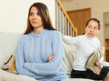 Mother asks for forgiveness from  daughter after quarrel Royalty Free Stock Photography
