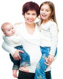 Mother with babies Royalty Free Stock Photo