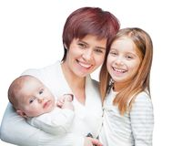 Mother with babies Stock Photography