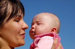 Mother and baby #11 Stock Images