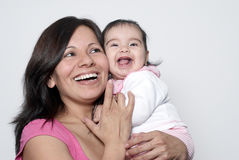 Mother with the baby stock photos