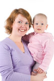 Mother with a baby. Happy mother and her baby Royalty Free Stock Images