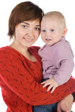 Mother with a baby. Mum embraces a small daughter Stock Images