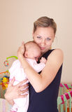 Mother with baby. Happy mother with baby girl Royalty Free Stock Photo