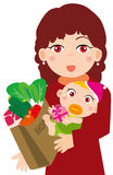 Mother and baby. Illustration of Mother and baby Stock Photo