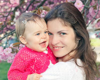 Mother with baby. Outdoor image of mother with baby Stock Photo