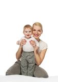 Mother, baby. stock photography