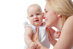 Mother and baby. Close up of loving mother and her baby Stock Images