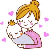Mother and baby. This is an illustration of a mother and baby Royalty Free Stock Photo