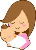 Mother and baby. This is an illustration of a mother and baby Royalty Free Stock Image