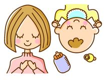 Mother and baby. This is an illustration of a mother and baby Stock Image