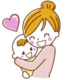 Mother and baby. This is an illustration of a mother and baby Stock Photo
